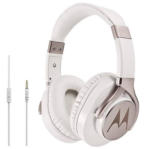 Fone de Ouvido Motorola Pulse Max Sh004 com Microfone - Branco/Prata