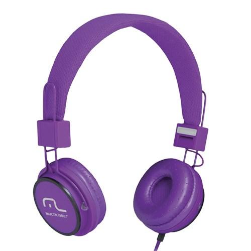Fone de Ouvido Multilaser Microfone Headfun Roxo P2 Ph090