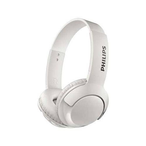 Fone de Ouvido Philips Bass+ Wireless Branco, SHB3075WT/00