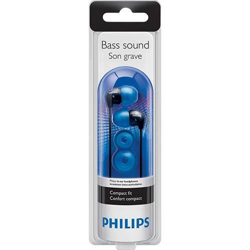 Tudo sobre 'Fone de Ouvido Philips Intra Auricular Preto/Azul - SHE3500'