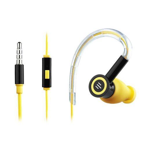 Tudo sobre 'Fone de Ouvido Silicone Pulse Earhook Preto e Amarelo'