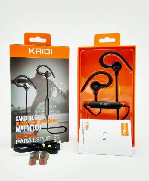 Tudo sobre 'Fone Ouvido Esportivo Bluetooth com Microfone Kaidi Kd-904'