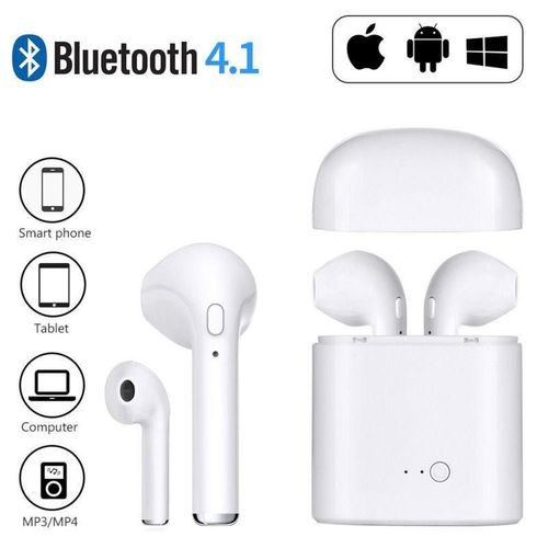 Tudo sobre 'Fone Ouvido Sem Fio Bluetooth 4.2 Par I7s Tws'
