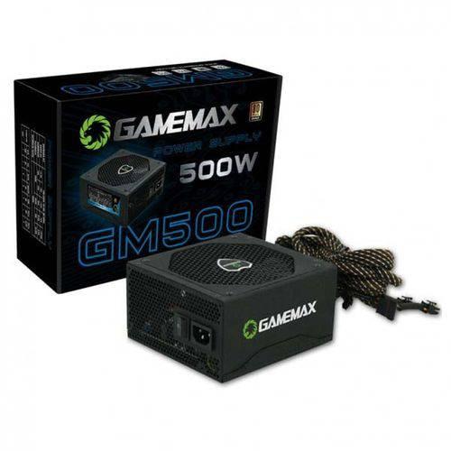 Tudo sobre 'Fonte Atx Gamemax Gm500 500 W Real Preta Pfc Ativo Bivolt 80 Plus Bronze'