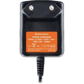 Fonte Chaveada 5VDC 1A P4 2,1mm FCTP5001 HAYONIK