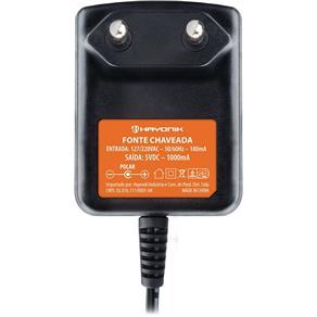 Fonte Chaveada 5VDC 1A P4 2.1mm FCTP5001 Hayonik