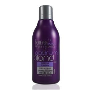 Forever Liss Platinum Blond Shampoo Blueberry Efeito Platinado - 300 Ml - 300 Ml