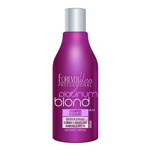 Forever Liss Platinum Blond Shampoo Blueberry Matizador 300ml