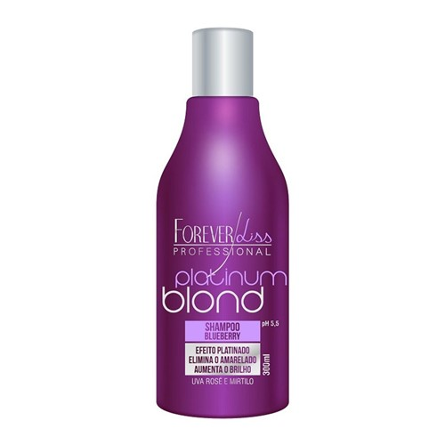 Forever Liss Platinum Blond - Shampoo Matizador Blueberry 300ml