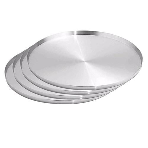 Forma Assadeira Pizza Grande 35Cm Kit 04 Peças Asj