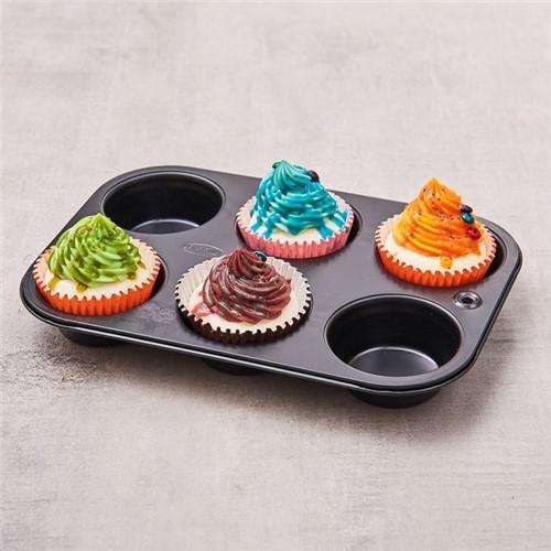 Tudo sobre 'Forma para Cupcake Antiaderente Meister Preto'