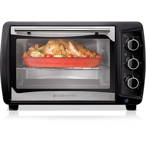 Forno Elétrico Cadence Chef 31L 1600W Preto