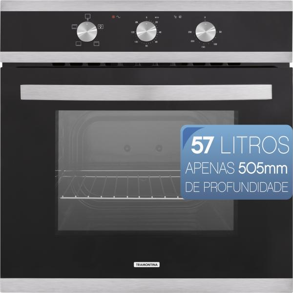 Forno Elétrico de Embutir Glass Brasil B 60 F3 220V - Tramontina