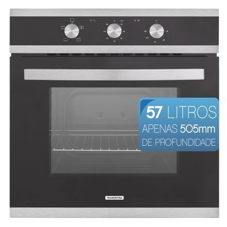 Forno Elétrico de Embutir Tramontina Glass Brasil B60 F3, 57 Litros -