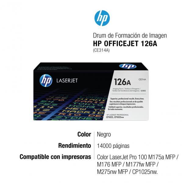 Fotocondutor Original Hp Ce314a 126a 130a Cp1020 Cp1025 M176n M177fw M175 M176 M177 14k