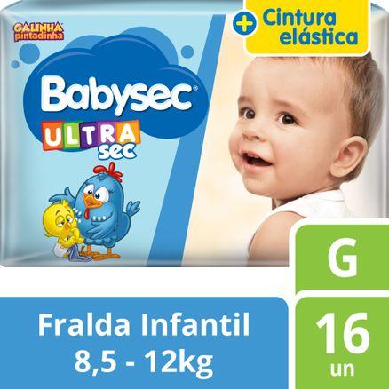 Tudo sobre 'Fralda Babysec Galinha Pintadinha Ultra G 16 Unidades'
