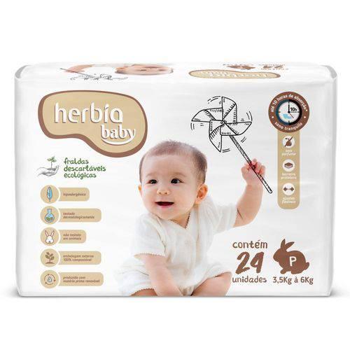 Tudo sobre 'Fralda Ecológica Descartável P Herbia Baby 24 Uni'