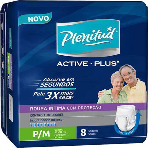 Tudo sobre 'Fralda Geriátrica Plenitud C/8 Active Plus P/m'
