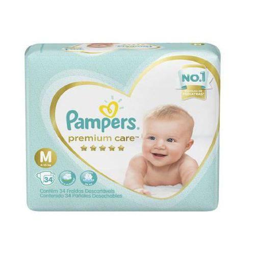 Tudo sobre 'Fralda Pampers Premium Care M C/34'