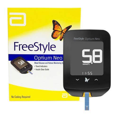 Tudo sobre 'Freestyle Optium Neo Medidor de Glicose Sem Tiras'