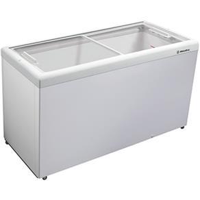 Freezer Horizontal 439L HF55L C/ Tampa de Vidro Branco - Metalfrio - 110V