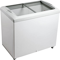 Freezer Horizontal Metalfrio HF30S Tampa de Vidro para Sorvetes e Congelados 303 Litros