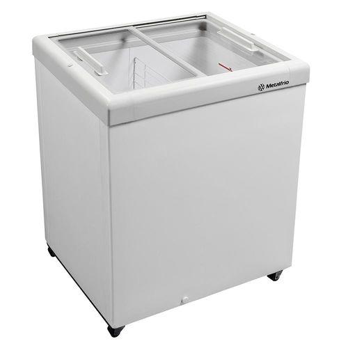 Freezer Horizontal Tampa de Vidro para Sorvetes e Congelados 160 Litros Hf20s 110v Metalfrio