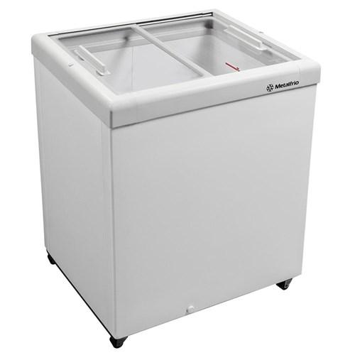 Freezer Horizontal Tampa de Vidro para Sorvetes e Congelados 189 Litros Hf20s - Metalfrio - 110V