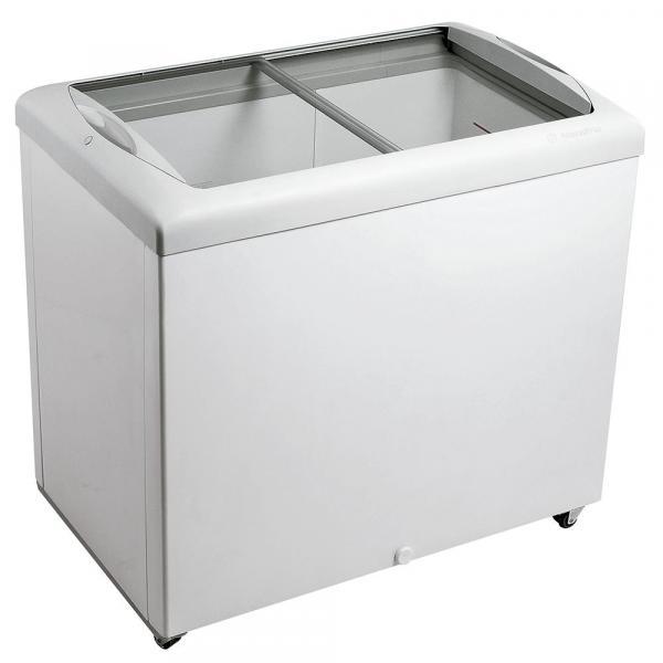 Freezer Horizontal Tampa de Vidro para Sorvetes e Congelados 270 Litros HF30S Metalfrio