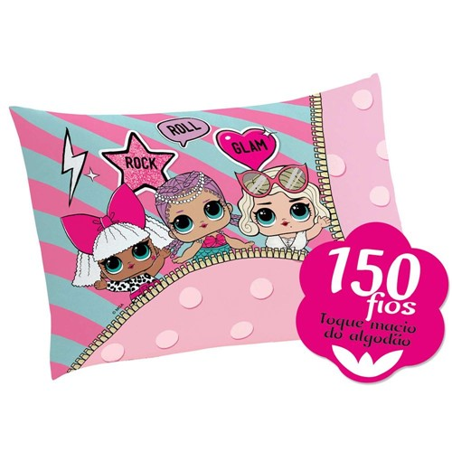 Tudo sobre 'Fronha Lepper Estampada LOL Surprise - Fibras Mistas 50cm X 70cm - Lepper Kids'