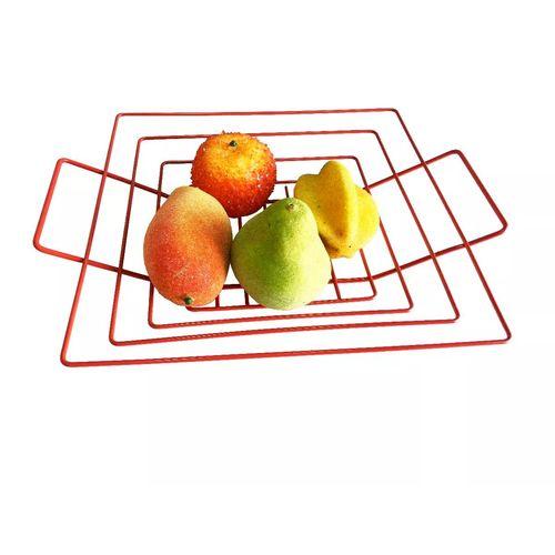 Fruteira de Mesa Quadrada Vermelha