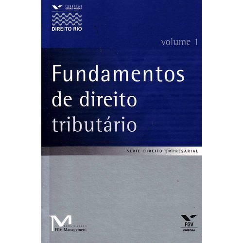 Tudo sobre 'Fundamentos de Direito Tributario - Vol.01'