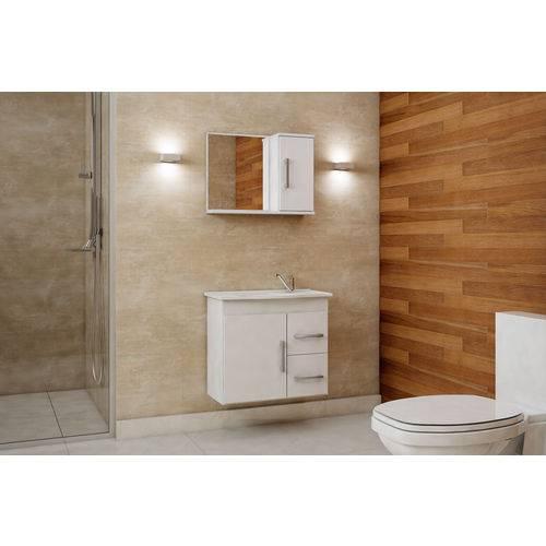 Tudo sobre 'Gabinete de Banheiro Vix com Espelho - Branco'