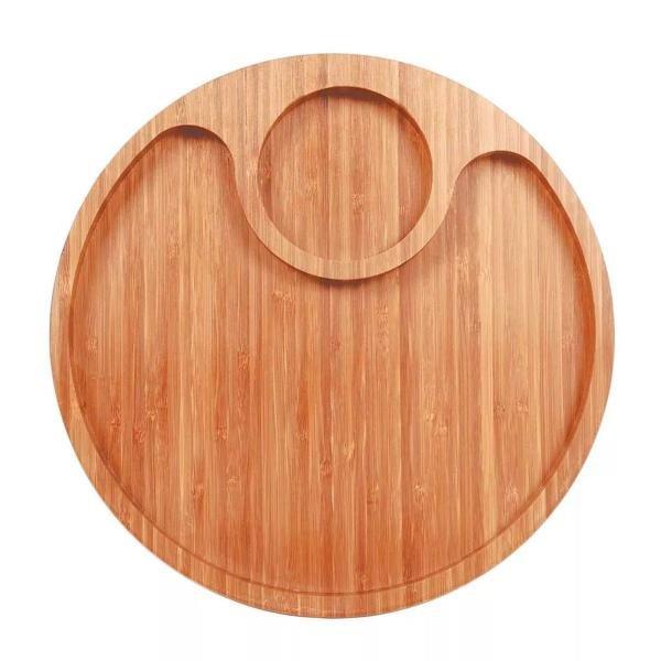 Gamela Bamboo com 2 Divisórias Mor