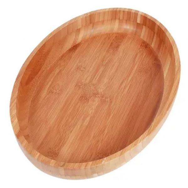 Gamela Oval Bamboo 41X27cm - Mor