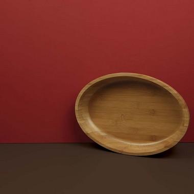 Gamela Oval Bamboo 33cm X 23cm - Mor