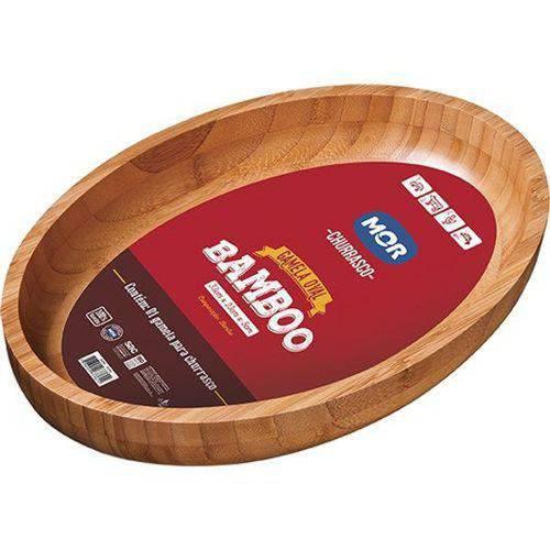 Gamela Oval Bamboo 33x23cm 3362 Mor