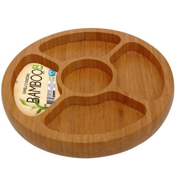 Gamela Oval com 5 Divisórias Bamboo - Mor