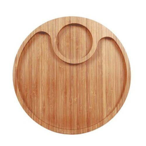 Gamela Redonda Bamboo com 2 Divisórias