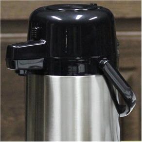 Garrafa Térmica Aço Inox Pressão 1,9L Termopro - Preto