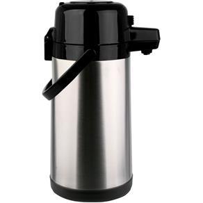Garrafa Térmica Aço Inox Pressão 1,9L Prata