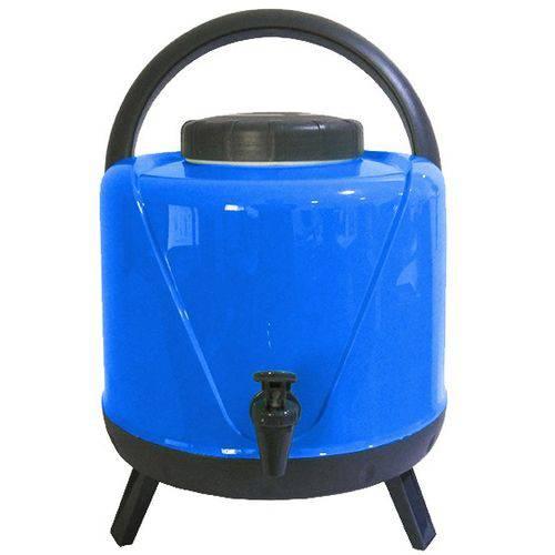 Tudo sobre 'Garrafa Térmica Botijão Água 5 Litros com Torneira Tripé Azul'