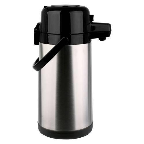 Garrafa Térmica Pressão Aço Inox Inquebrável Base Giratória 2,5 Litros - Termopro