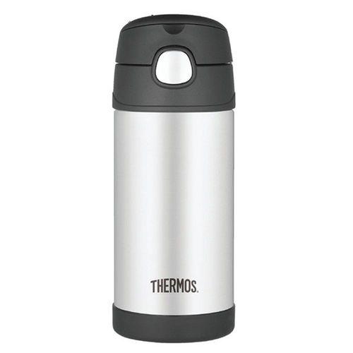 Garrafinha Térmica Thermos Funtainer 355ml Preto e Inox - A-28-008