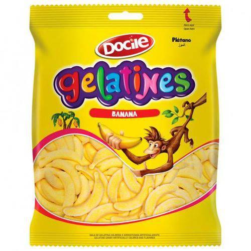 Gelatines Docile Banana 300g Pacote C/ 300 Grs