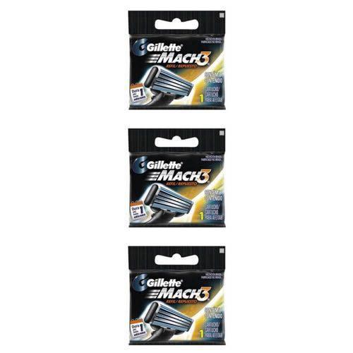 Gillette Mach3 Carga Regular C/1 (kit C/03)