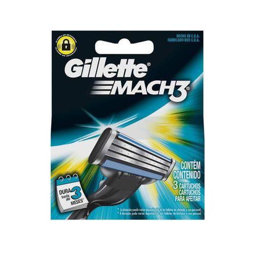 Gillette Mach3 Carga Regular C/3
