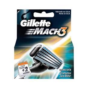 Gillette Mach3 Carga Regular com 2