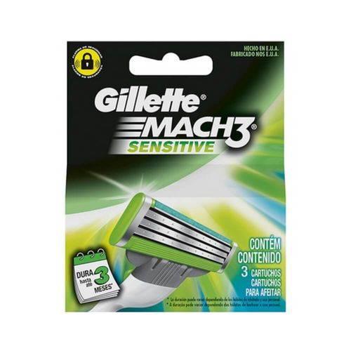 Gillette Mach3 Sensitive Carga C/3