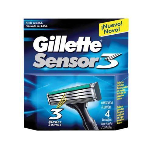 Gillette Sensor 3 Carga C/4